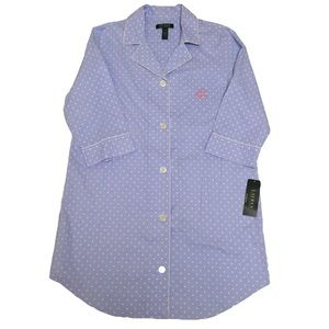 Lauren Ralph Lauren Polka Dot Night Shirt Pajama